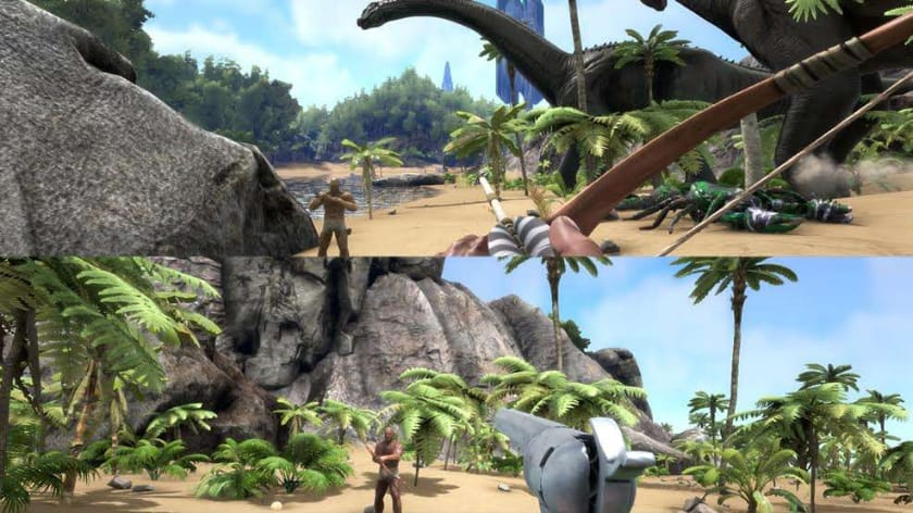 Best Split Screen Games - Ark Survival Evolved
