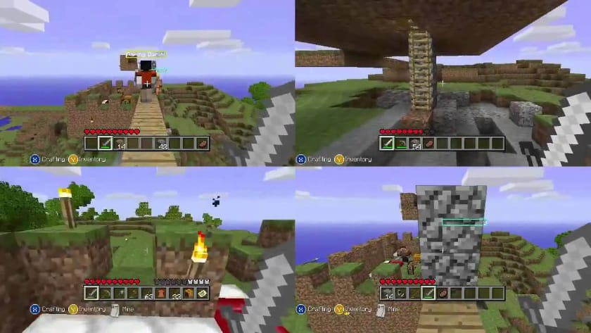 Best Split Screen Games - Minecraft