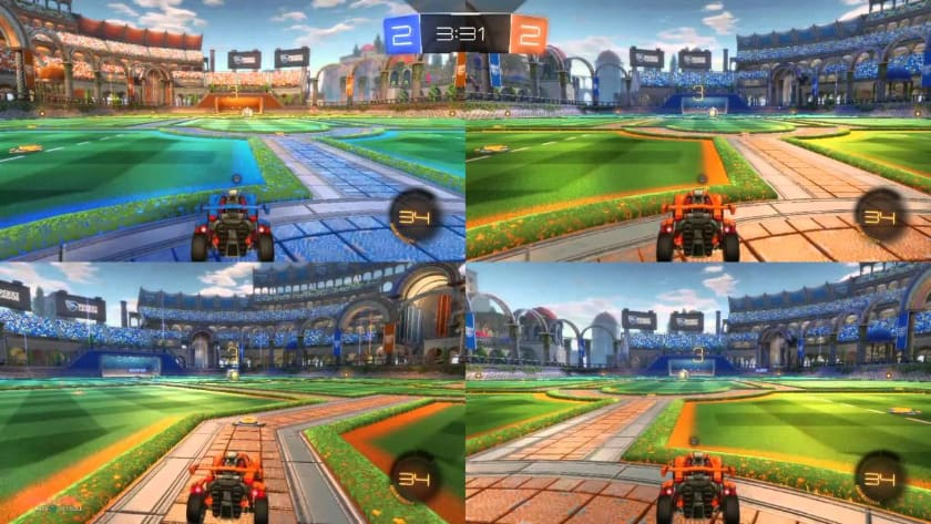 Best Split Screen Games - Rocket League