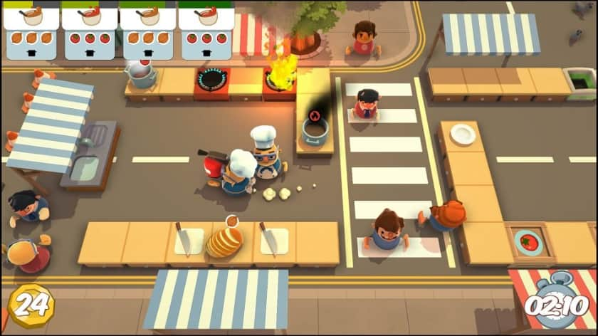 Best Split Screen Xbox One Games - Overcooked