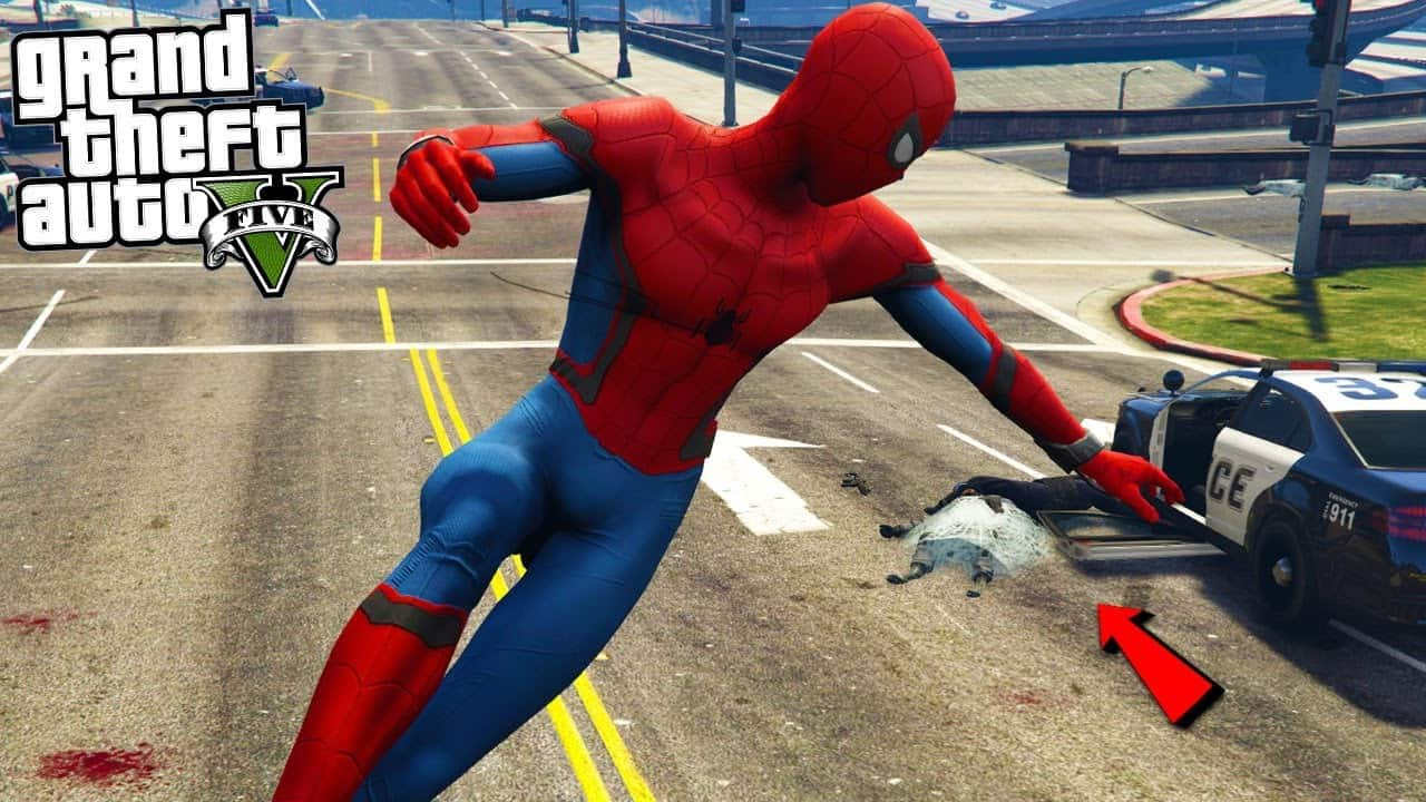 Best GTA 5 Mods - Spider-Man