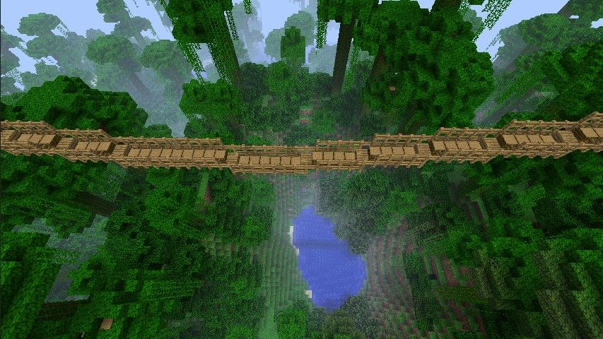 Best Minecraft Mods - Rope Bridge