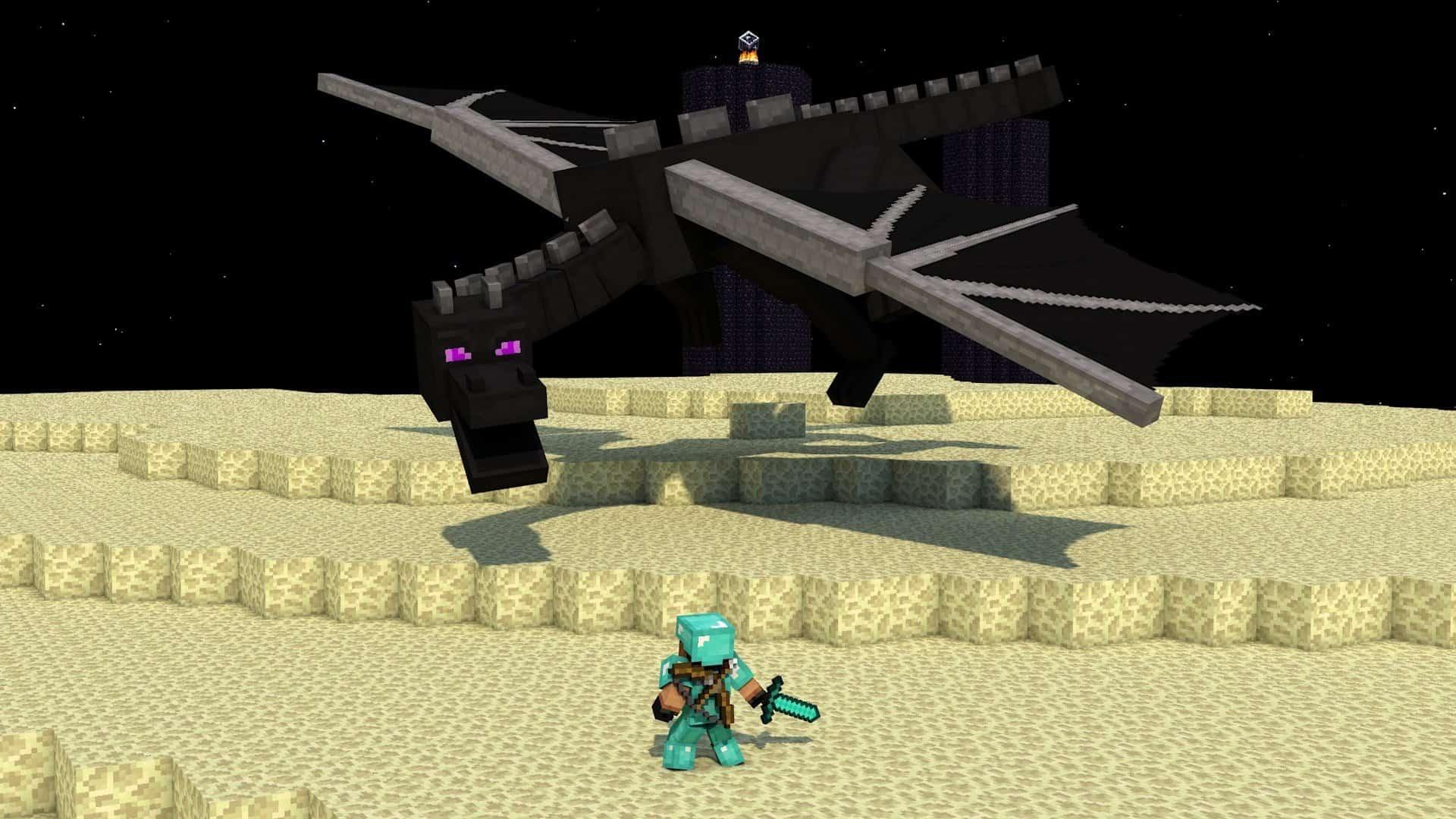 Toughest Video Game Bosses - Elder Dragon - Minecraft
